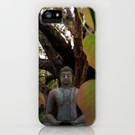 Buddha Statue at Abhayagiri Stupa iPhone Case