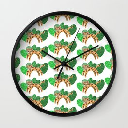 Jungy the Leopard Wall Clock