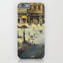 American Masterpiece 'Greenwich Village, NY' by Alfred S. Mira iPhone Case