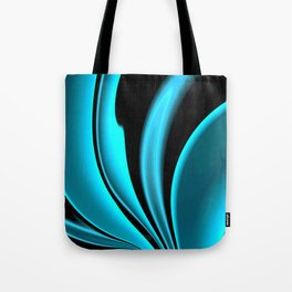 Abstract Fractal Colorways 02 Pacific Blue Tote Bag