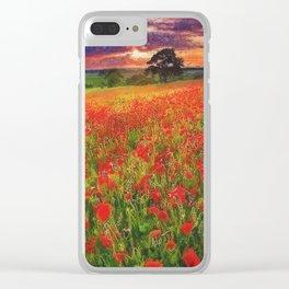 Tulip Fields Clear iPhone Case