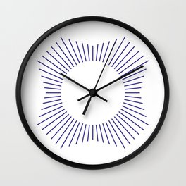 White and Purple Striped Dodecagon Wall Clock