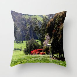 Farm house nestled in the high Country - Australia Throw Pillow