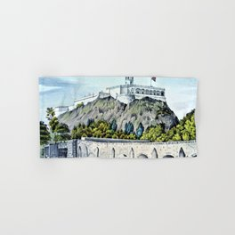 12,000pixel-500dpi -Nathaniel Currier - Military College of Chapultepec - Digital Remastered Edition Hand & Bath Towel