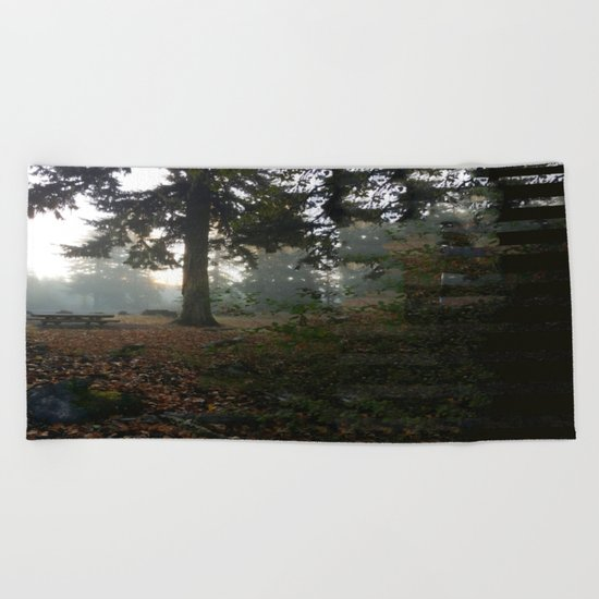Divided In Fall (There Are No Picnics Here) Beach Towel