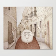 Da Mhux mir-Raħal - Retro Version  (We don't like strangers around here...) Canvas Print