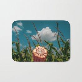 Ear of Corn in a Field with Blue Skies Overhead Bath Mat