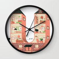 letter Wall Clocks featuring Letter U by Margarida Esteves