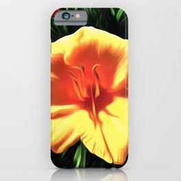 Painted Day Lilly iPhone Case