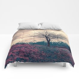 Japanese Mountains Comforters