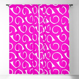 Hot Pink and White Swirls Blackout Curtain