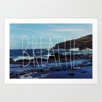breathe Art Prints featuring Breathe by Leah Flores
