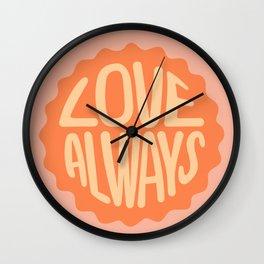 Love Always Badge Wall Clock