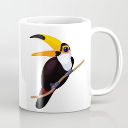 Exotic toucan. Vector graphic character Coffee Mug
