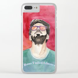 Rose-Tinted Glasses Clear iPhone Case