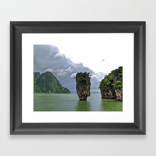007 Island Framed Art Print
