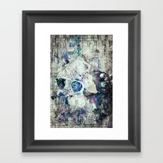 Retro abstract geometric floral Framed Art Print
