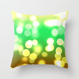 Soft Lights Bokeh 3 Throw Pillow