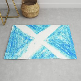 flag of scotland 7– scotland,scot,scottish,Glasgow,Edinburgh,Aberdeen,dundee,uk,cletic,celts,Gaelic Rug