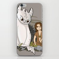 how to train your dragon iPhone & iPod Skins featuring How To Train Your Luck Dragon by Lacey Simpson
