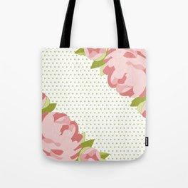Peonies & Polka Dots Tote Bag
