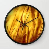 grass Wall Clocks featuring Grass by Fine2art