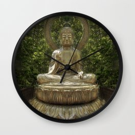 A Buddha in the Japanese Tea Garden, Golden Gate Park, San Francisco, California Wall Clock