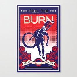 Feel the Burn Canvas Print
