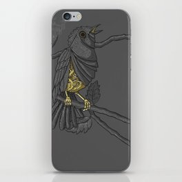 Mechanical bird iPhone Skin