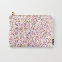 Happy Pastel Square Pattern Carry-All Pouch