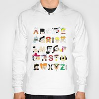 60s Hoodies featuring Child of the 60s Alphabet by Mike Boon