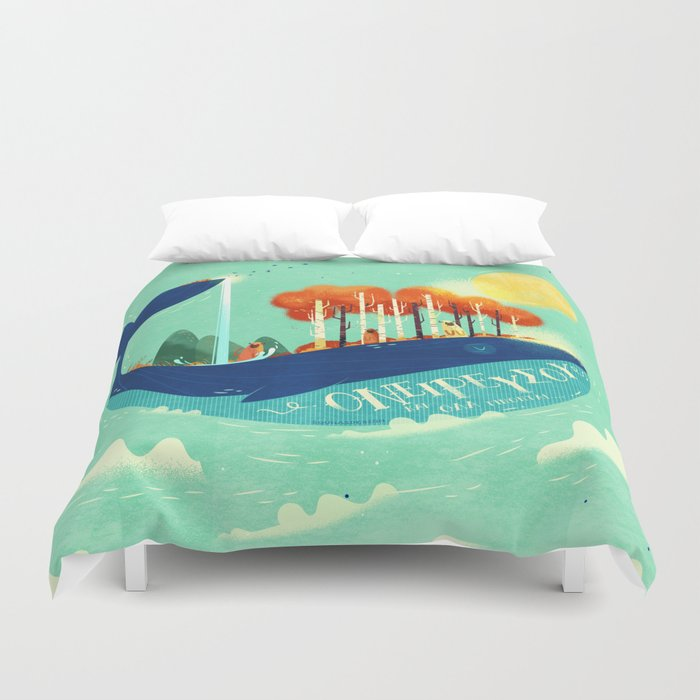 :::Tall Tree Whale::: Duvet Cover