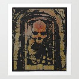 darkness rises when silence dies Art Print