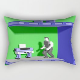 Inside Impossible Mission Rectangular Pillow
