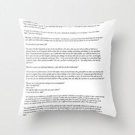 Pride and Prejudice Jane Austen white background Throw Pillow