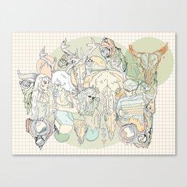plastic peach Canvas Print