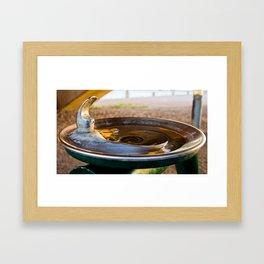 Drinking Fountain Sunset Framed Art Print