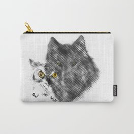 wolf and owl painting Carry-All Pouch