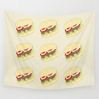 hamburger Wall Tapestries featuring Hamburger by Berta Merlotte
