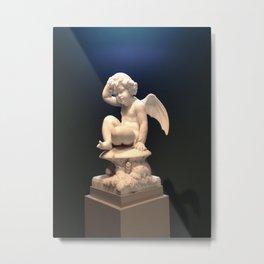 Contemplative Cupid Metal Print