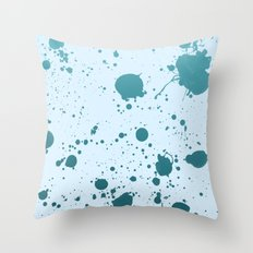 Splatter 1 Throw Pillow