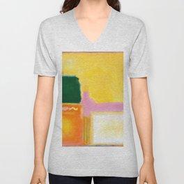 Mark Rothko - No 16 / No 12 (Mauve Intersection) Artwork Unisex V-Neck