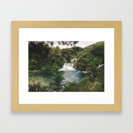 Krka National Park - waterfall Skradinski buk in Croatia Framed Art Print