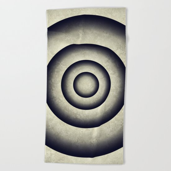 Minimal grunge 3D abstraction Beach Towel