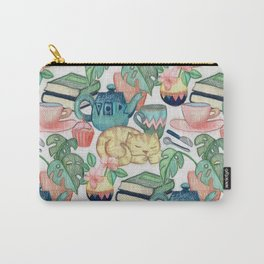 Lazy Afternoon - a chalk pastel illustration pattern Carry-All Pouch