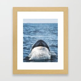 There She Is Framed Art Print