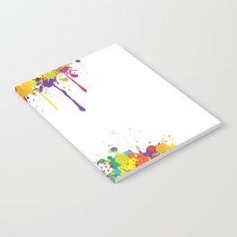 Paint Watercolor Splatter Notebook