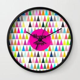 Happy days -  Pennants Wall Clock
