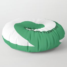 The Slytherin Floor Pillow