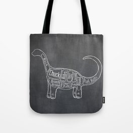 "Brontosaurus Dinosaurus (A.K.A Apatosaurus ""Big Cow"") Butcher Meat Diagram Tote Bag"